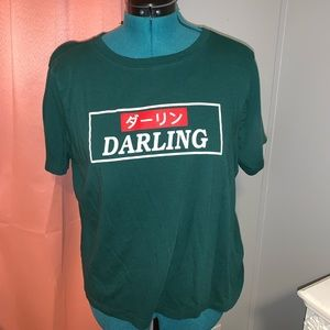 Forever 21 Green Graphic Tee